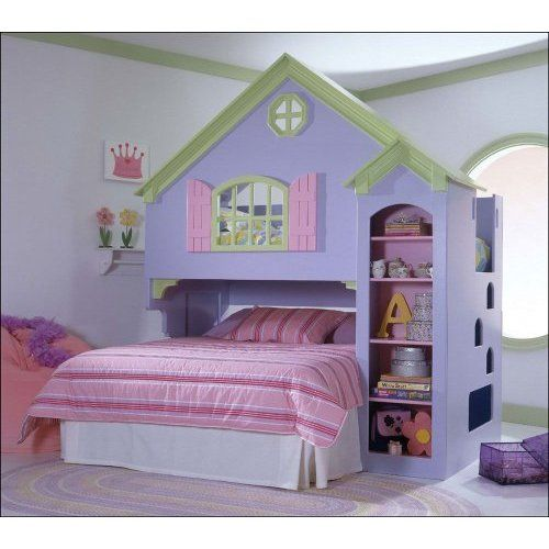 Amazon Com Tradewins Doll House Wood Loft Bunk Bed Furniture