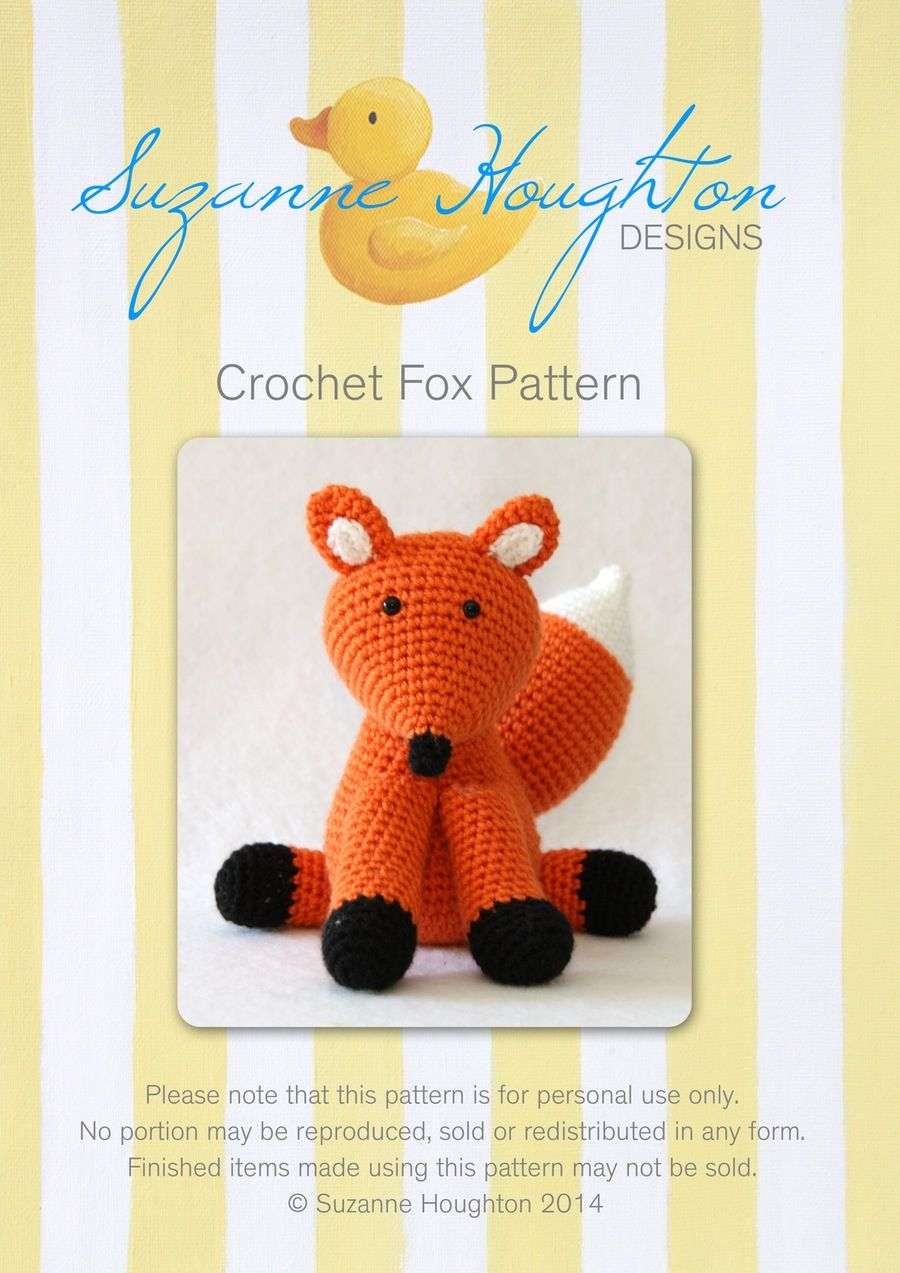 Image of Crochet Fox Pattern-digital download