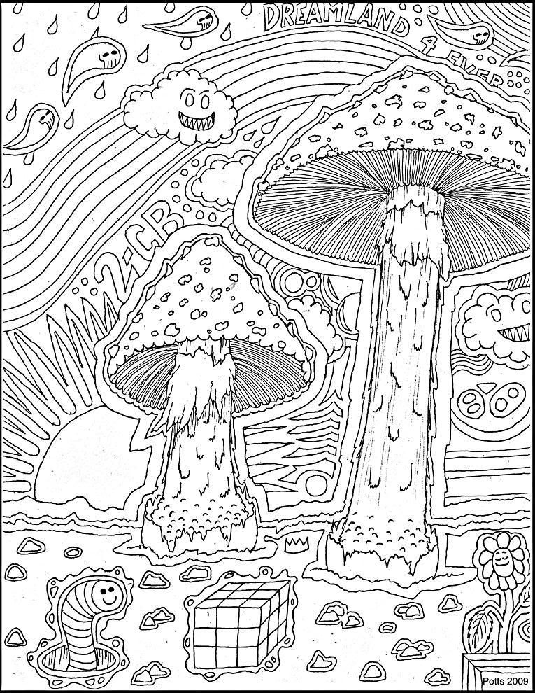 Http Www Bing Com Images Search Q Trippy Mushroom Coloring Pages