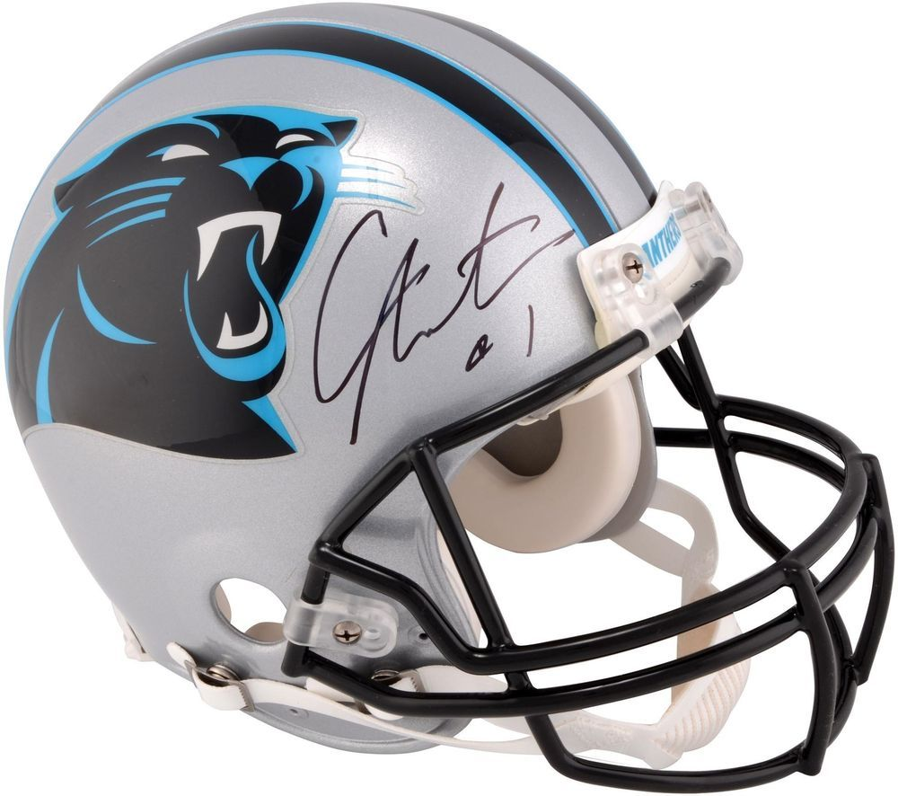 Cam newton car panthers autographed riddell proline