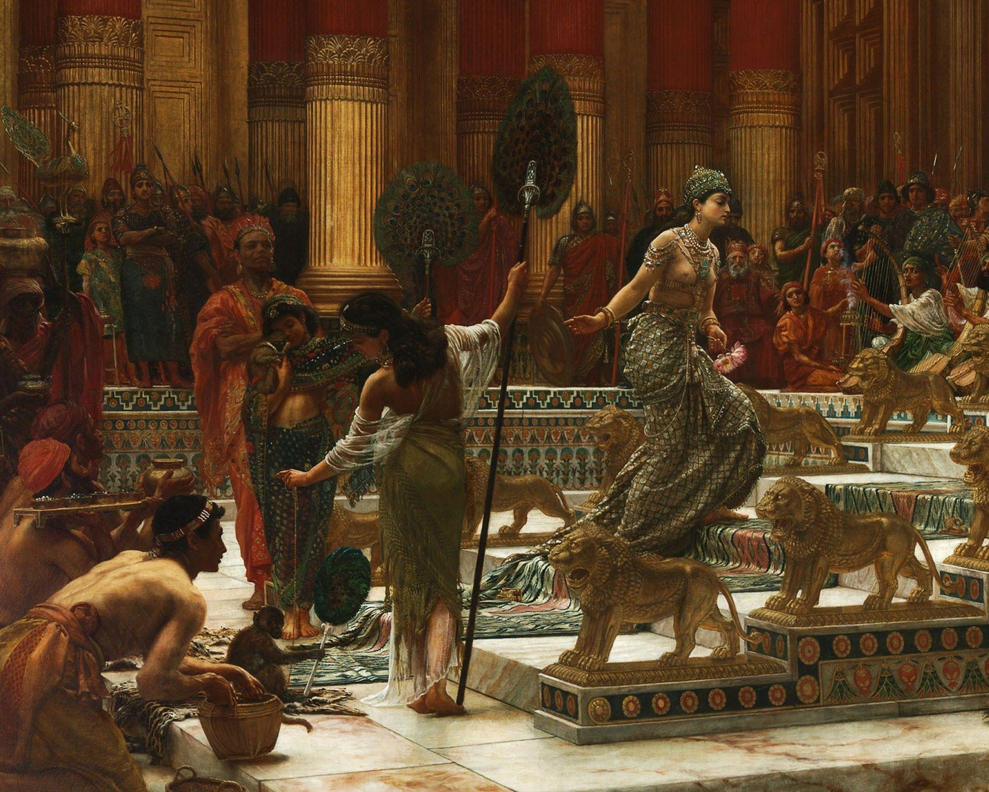 Sir Edward John Poynter 1890 The Visit Of The Queen Of Sheba To