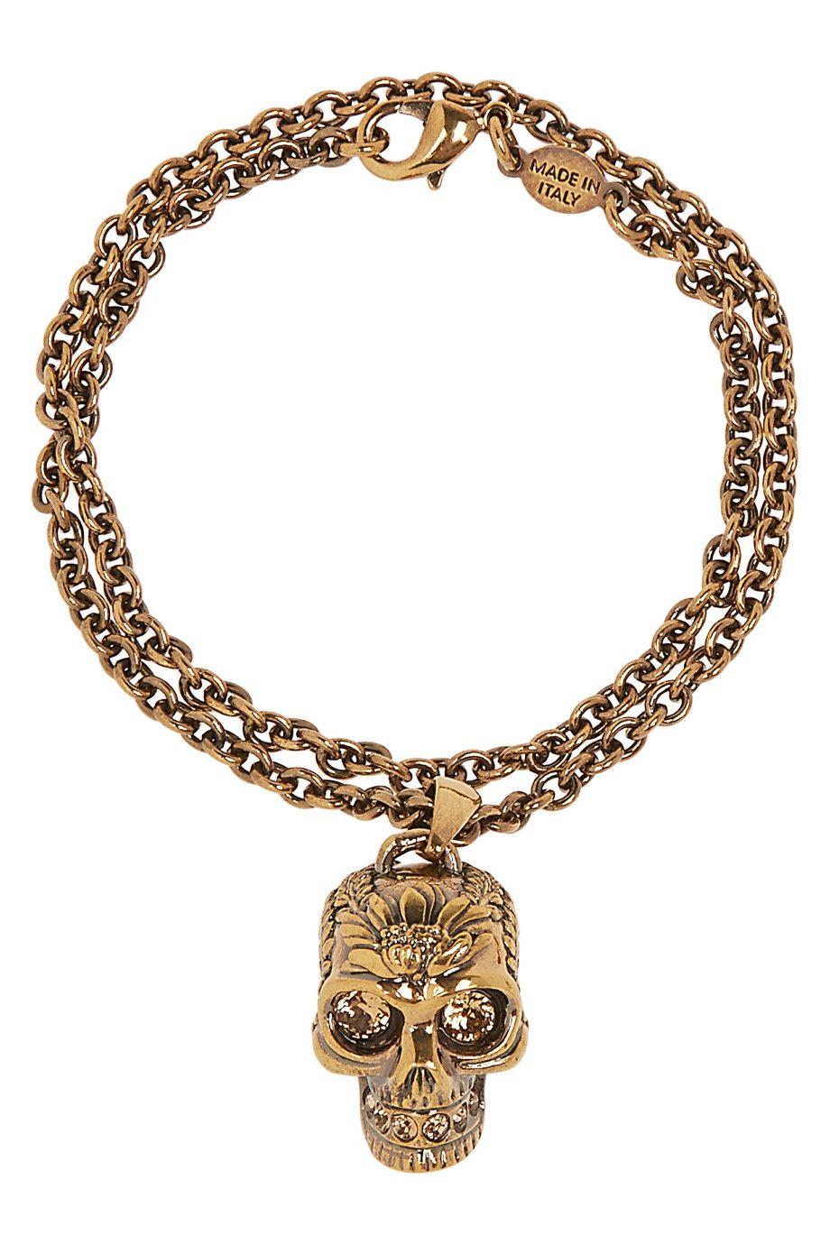 Alexander McQueen   Gold-tone Swarovski crystal wrap bracelet   NET-A-PORTER