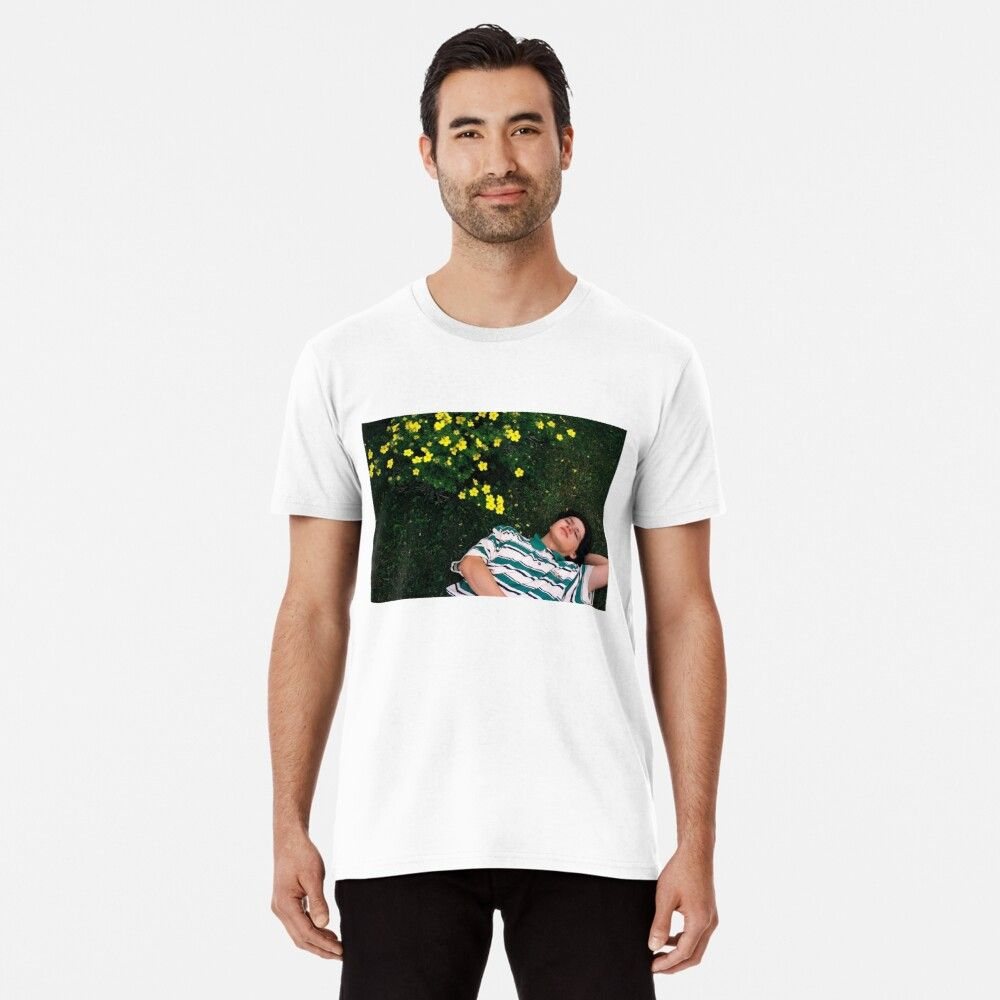 The WHITE Tropical Mustache T-Shirt