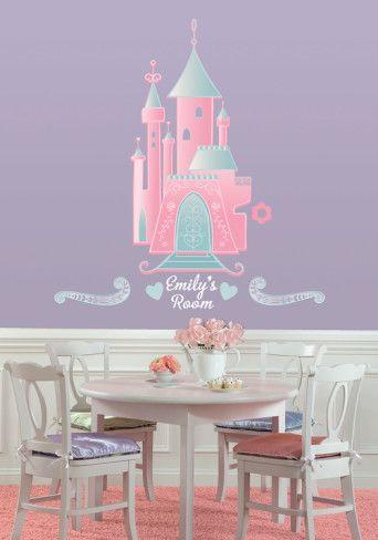 Disney Princess   Castle Peel U0026 Stick Giant Wall Decal W/PZ Wall Decal