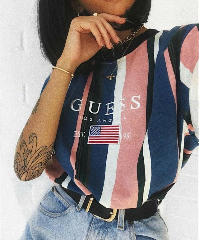 guess outfit | guess | striped shirt | 90s fashion | 90s style | 90s ootd | #ootd #90sstyle