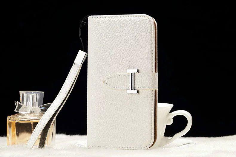 Galaxy S6 Edge Plus Leather hermes Wallet Case White