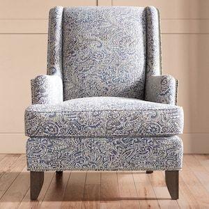 Best High Leg Accent Chair In Blue Paisley Nebraska Furniture 400 x 300