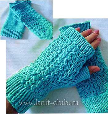 вязаные митенки спицами схемы вязание спицами вязание вязать