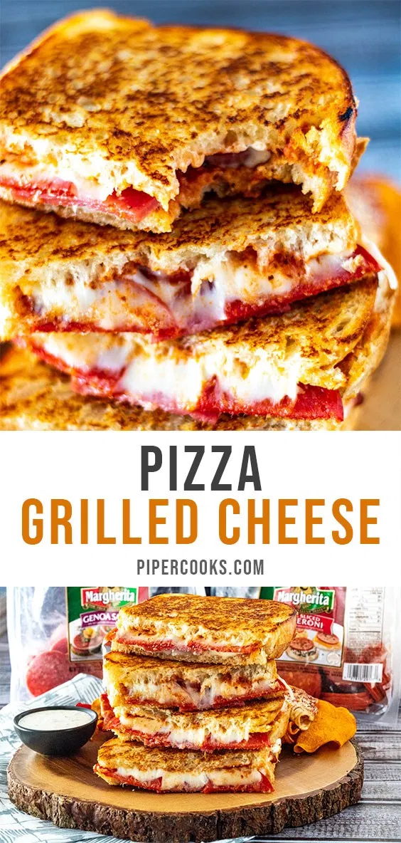 Pizza Grilled Cheese Recipe Pizza Grilled Cheese Pizza Grilled Cheese Sandwich Gourmet Grilled Cheese