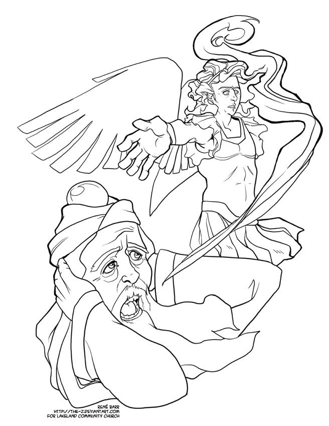Advent Coloring Page Zechariah By The Z On Deviantart Coloring