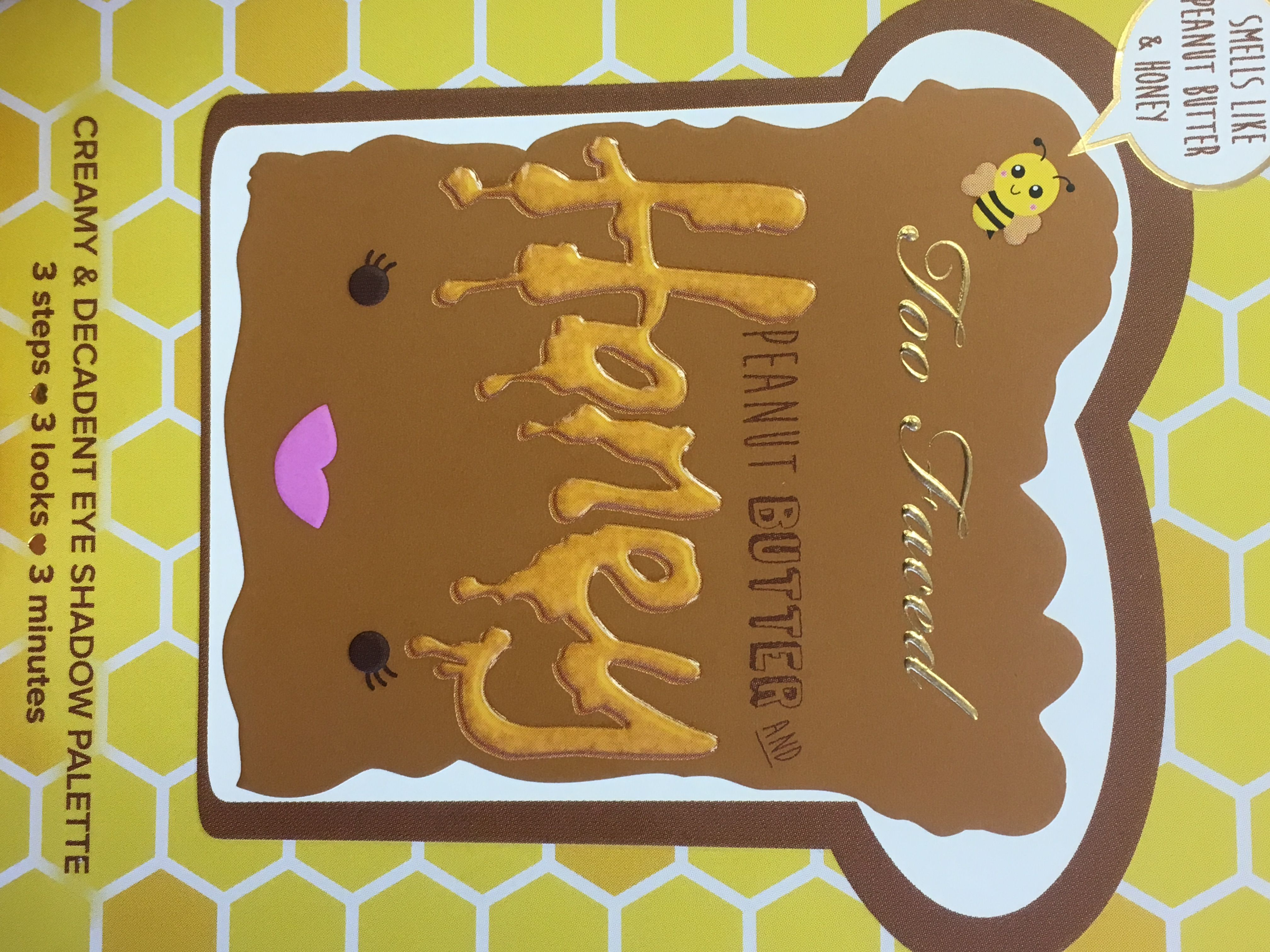 Too Faced Peanut Butter And Honey Palette Too Faced Peanut