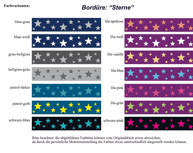 Kinderzimmer sterne blau  Bordüre: Sterne • DaWanda www.meinborduerenladen.de | Kinderzimmer ...