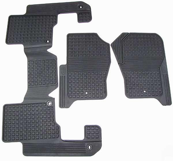 Rubber Floor Mat Set For Lr3 And Lr4 Black Rubber Rubber Floor Mats Land Rover Black Rubber