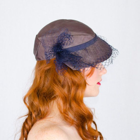 cappello vintage anni ' 30 / slouch hat / At di PoppycockVintage