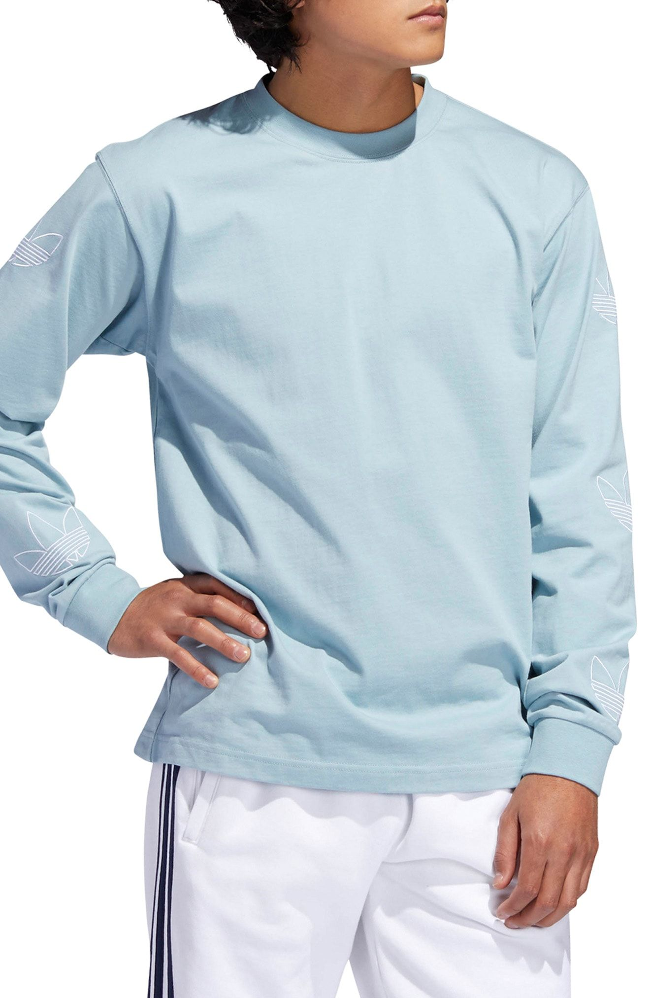 sneakers for cheap 8b305 700a9 ADIDAS ORIGINALS EMBROIDERED TREFOIL LONG SLEEVE T-SHIRT. adidasoriginals  cloth