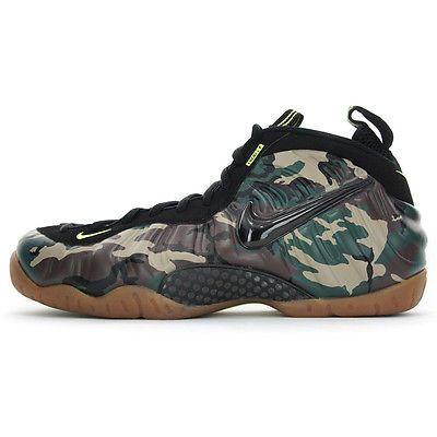 buy popular 16ee9 9a7c9 Nike Air Foamposite Pro Premium LE Mens 587547-300 Green Camo Shoes Size 13