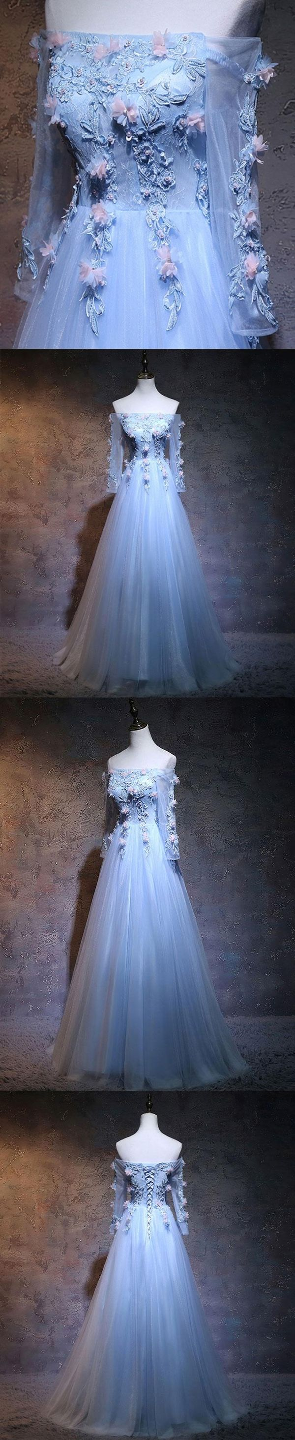 Beautiful prom dresses offtheshoulder long sleeve lace prom dress
