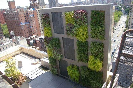 balkon sichtschutz-windschutz ideen-vertikaler garten | garten, Garten Ideen