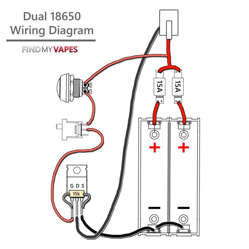 DIY Unregulated Dual 18650 Box Mod Kit Vape diy, Vape