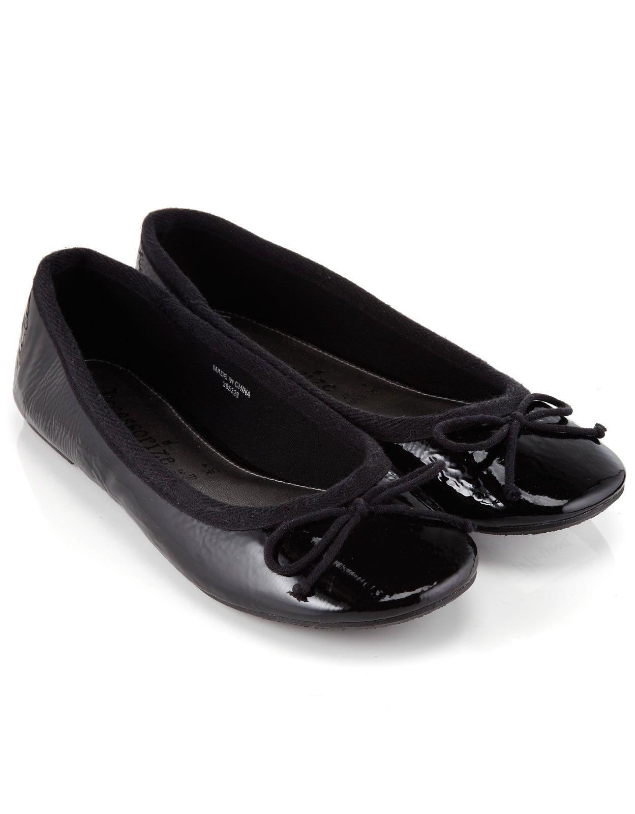 Bobbi Basic Patent Ballerina   Black