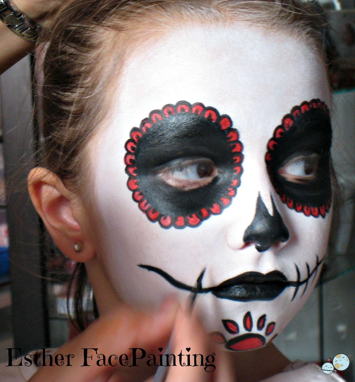 Maquillaje de halloween para nios Catrina calaveras mexicanas