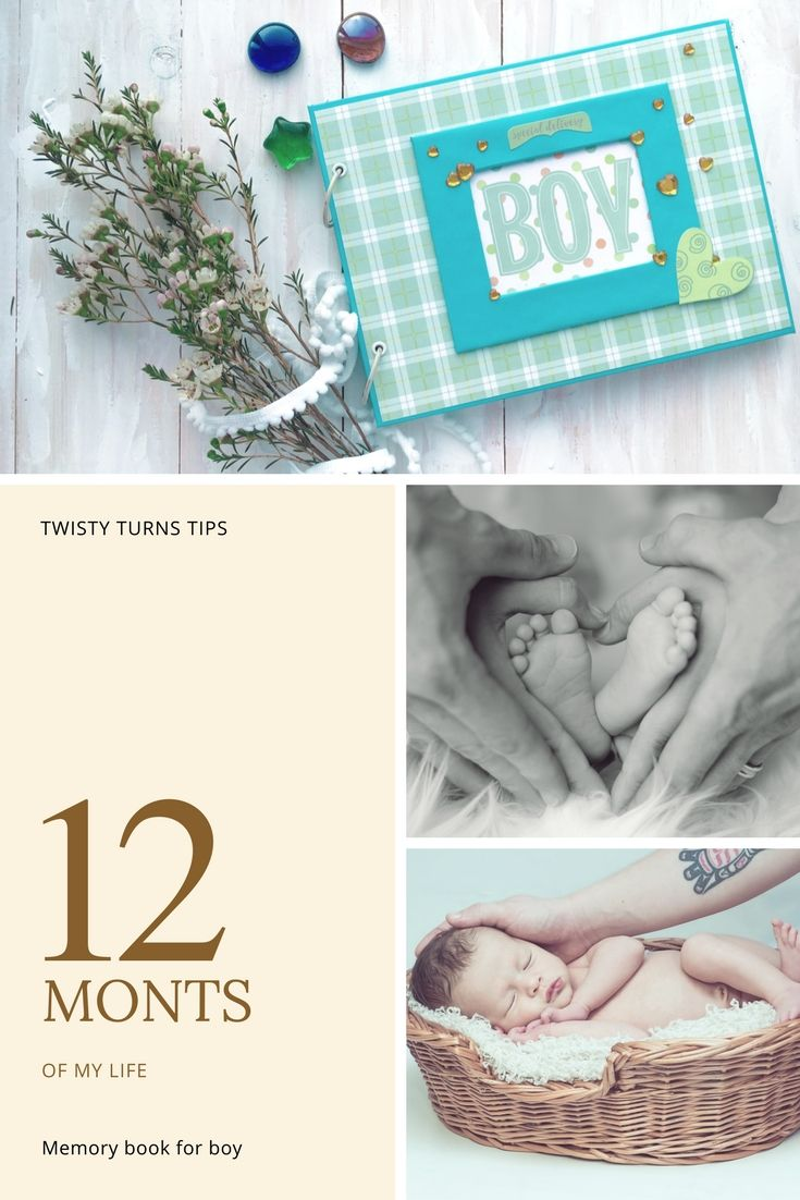 Personalized Baby Boy Memory Book Printable First Year Album