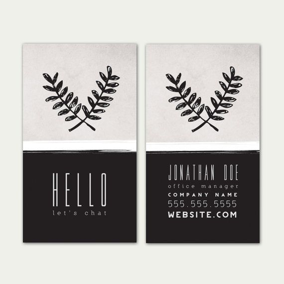 Business Card Template, Vertical Business Card, Digital