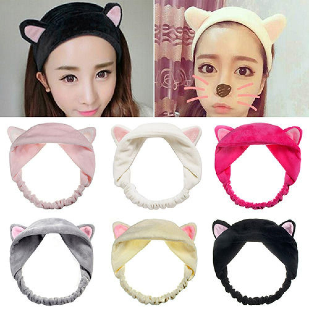 1PC Fashion Hairbands Lovely Headbands Lady Ear Hair Girl Cat Accessories Velet