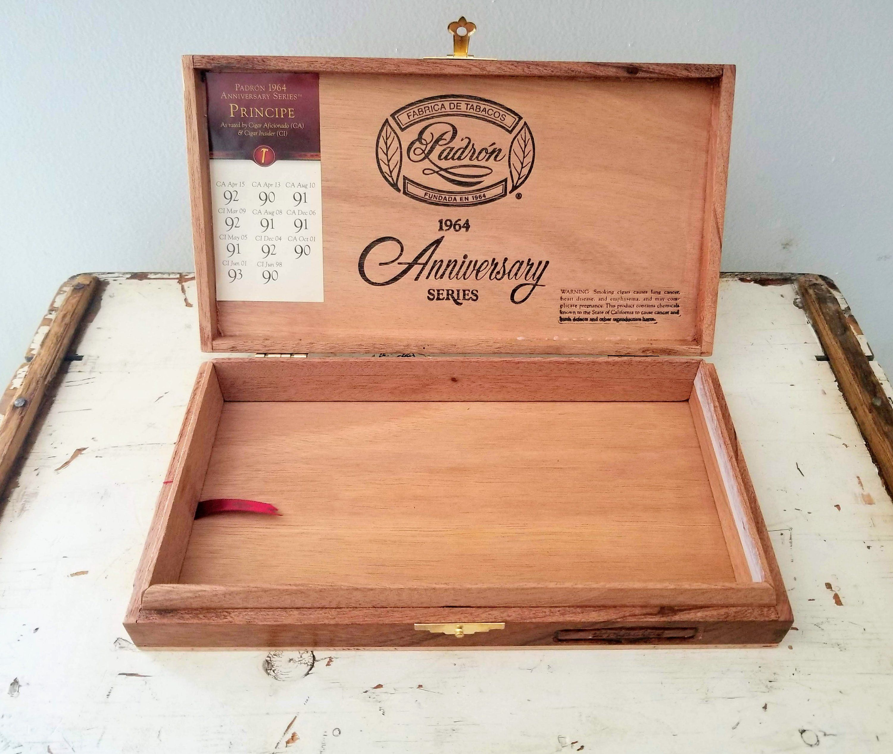 Padron Cigar Box Empty Cigar Box Guitar Wood Box Groomsmen Gift