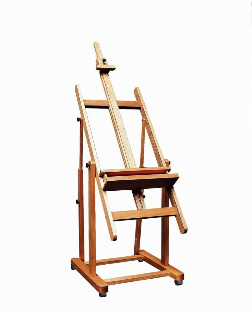 large adjustable h frame art artist studio easel on wheels mobile painting oil