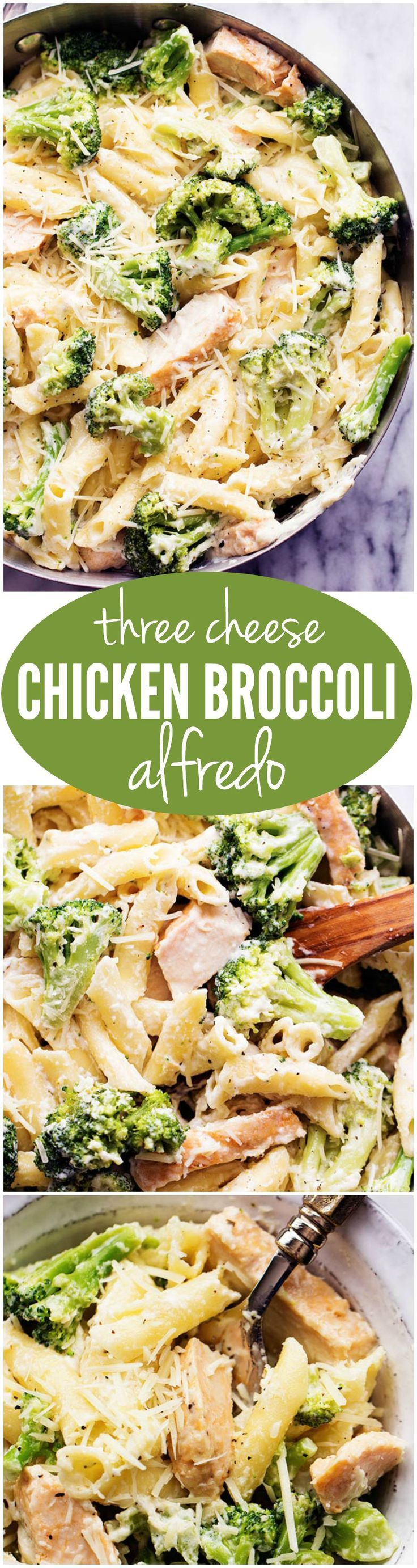 Three Cheese Chicken Broccoli Alfredo  Recipe  Family -8074