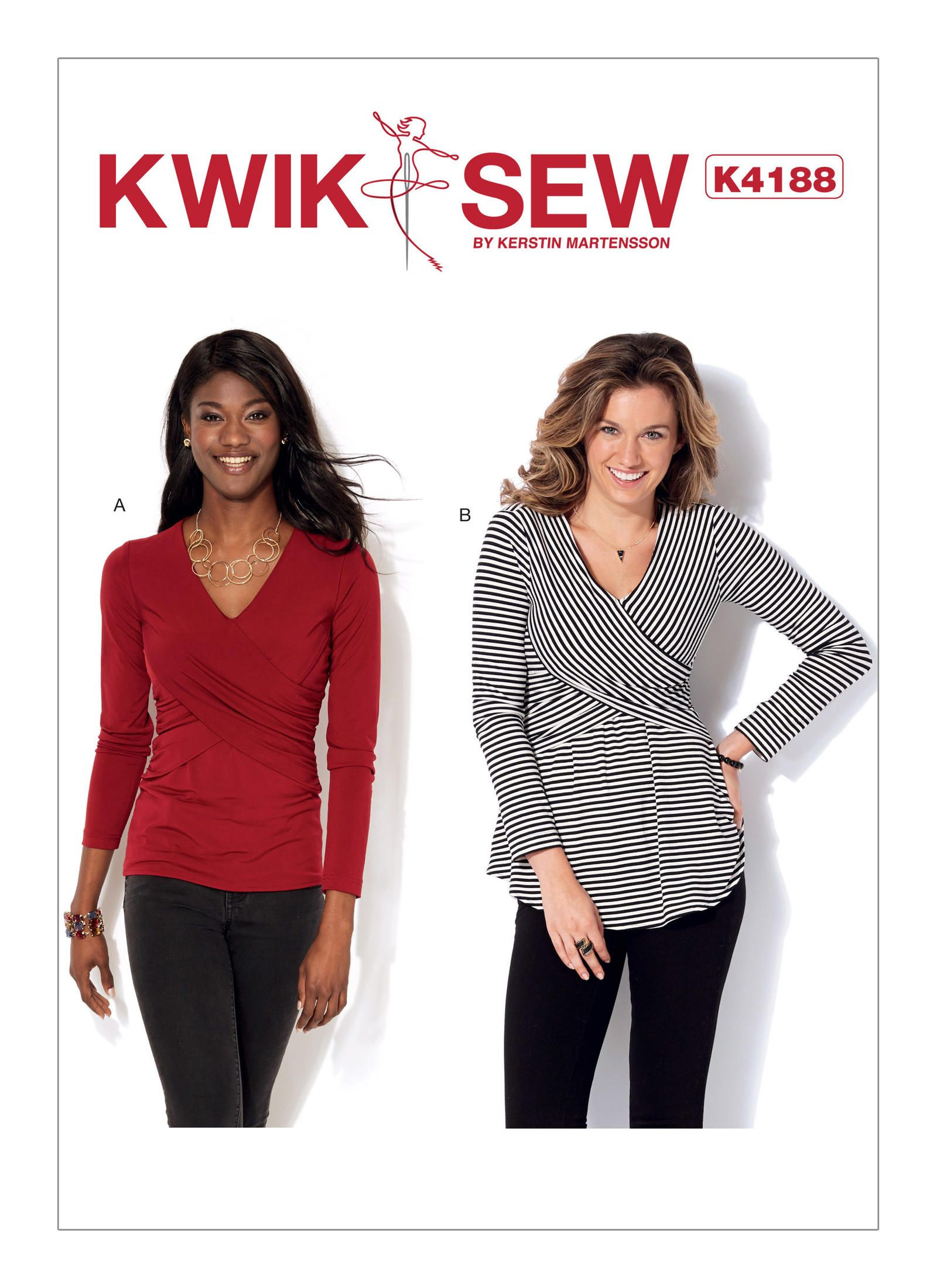 Kwik Sew 4188 Misses\' Front-Crossover Tops | Schnittmuster