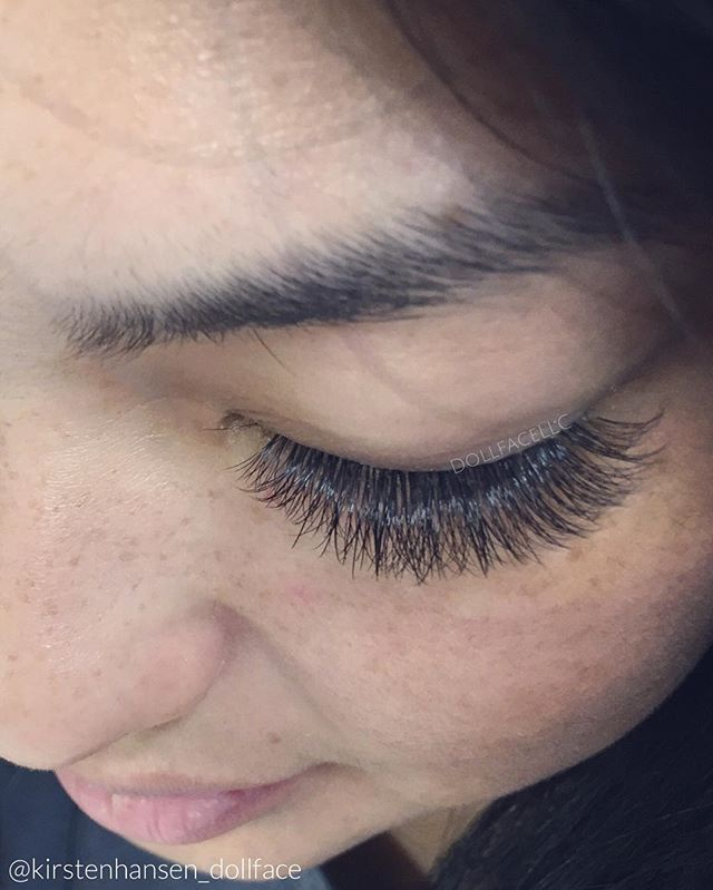 e5ca73ebada Classic and Russian Volume Combo. She's unstoppable now! @channinggg12 ..  Lashes featured