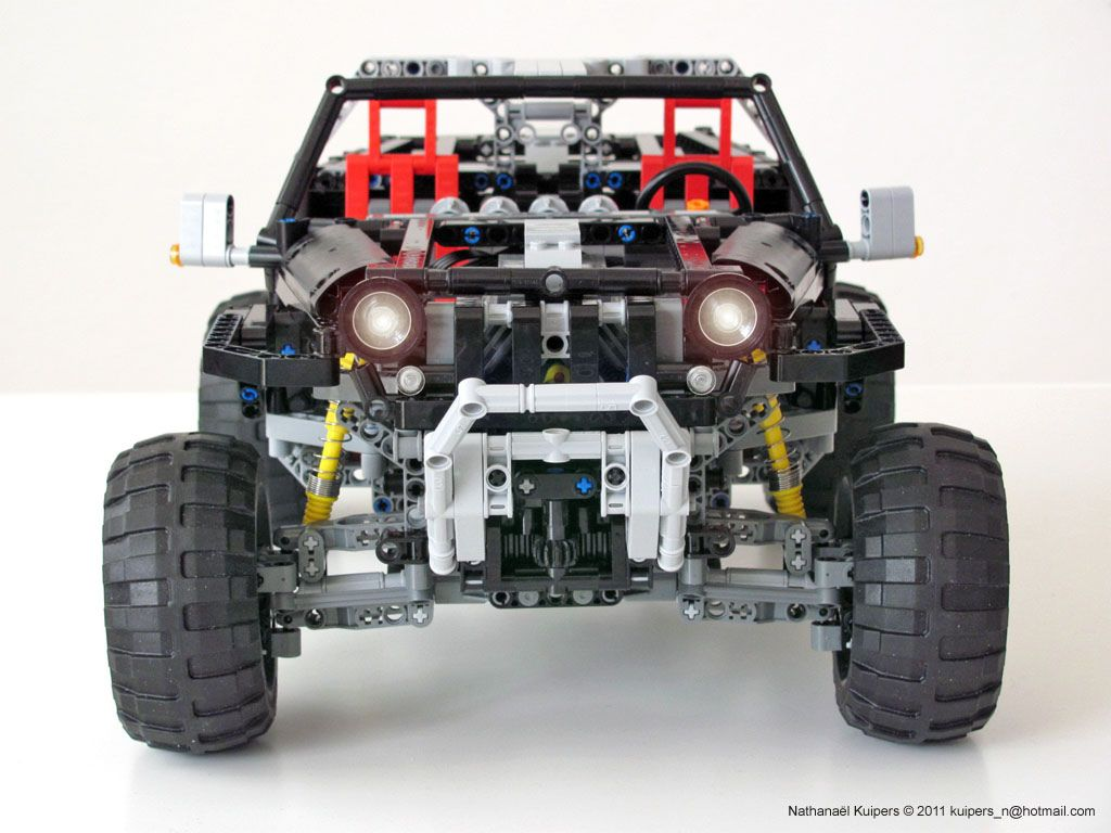 Jeep Hurricane Front With Images Lego Technic Jeep Lego