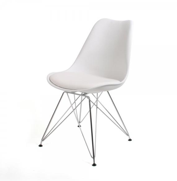 Stoel Azur Wit Chrome | Moderne eetkamerstoelen, Stoelen