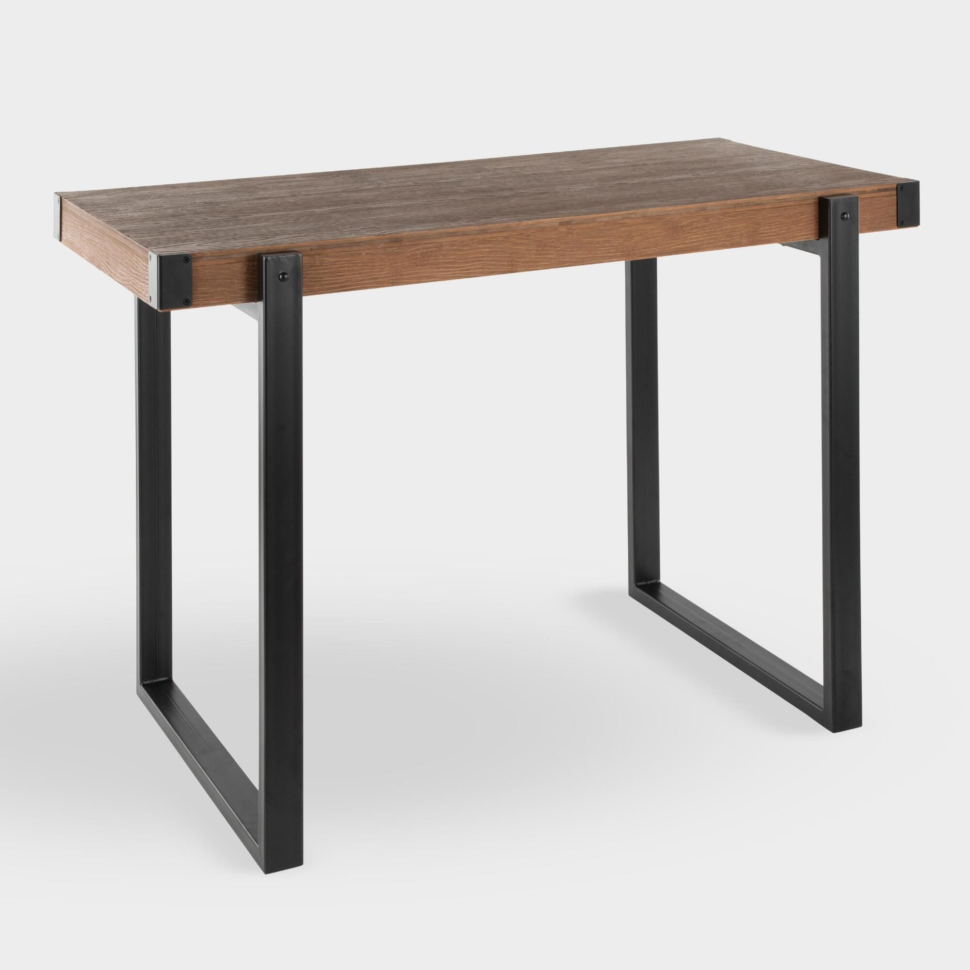 Metal And Wood Langdon Counter Height Table By World Market Counter Height Table Dining Table Black Rustic Dining Room Table