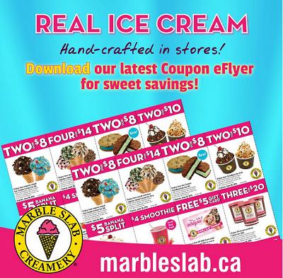 Marble Slab Creamery Coupons Ice Cream Flavours Marble Slab Creamery Ice Cream Flavors Scrumptious Desserts