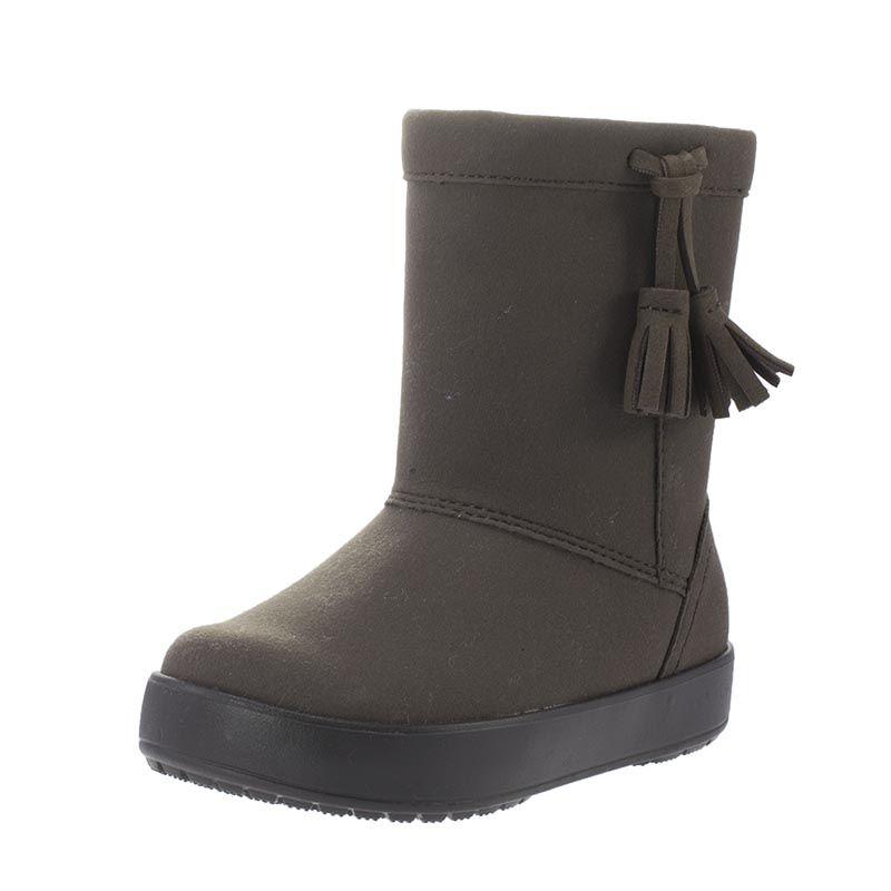 9f5dda21a82 Παιδικές μπότες του οίκου Crocs, από αδιάβροχο συνθετικό υλικό και ζεστή  επένδυση.