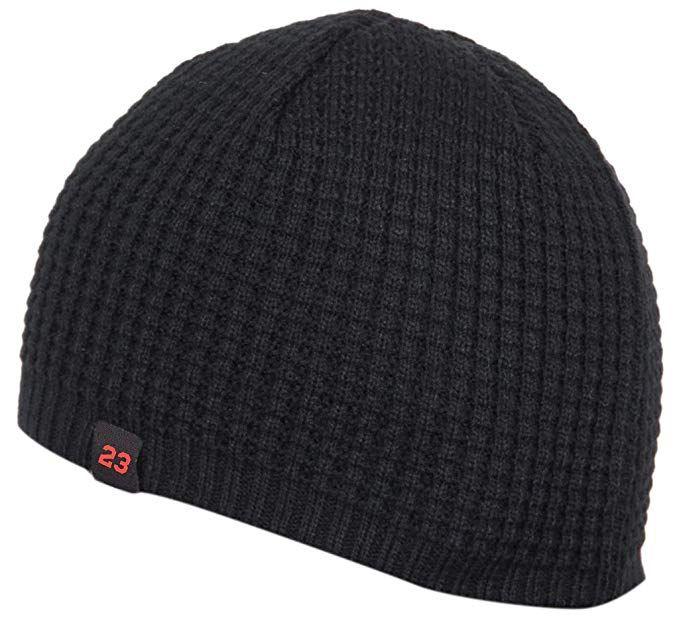 0d8284004a9 Gajraj Unisex Knitted Acrylic Woolen Winter Skull Cap (Black ...