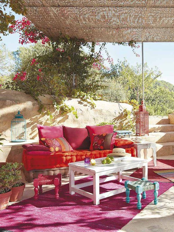 Ideas coloridas para decorar exteriores Muchas Color y Terrazas