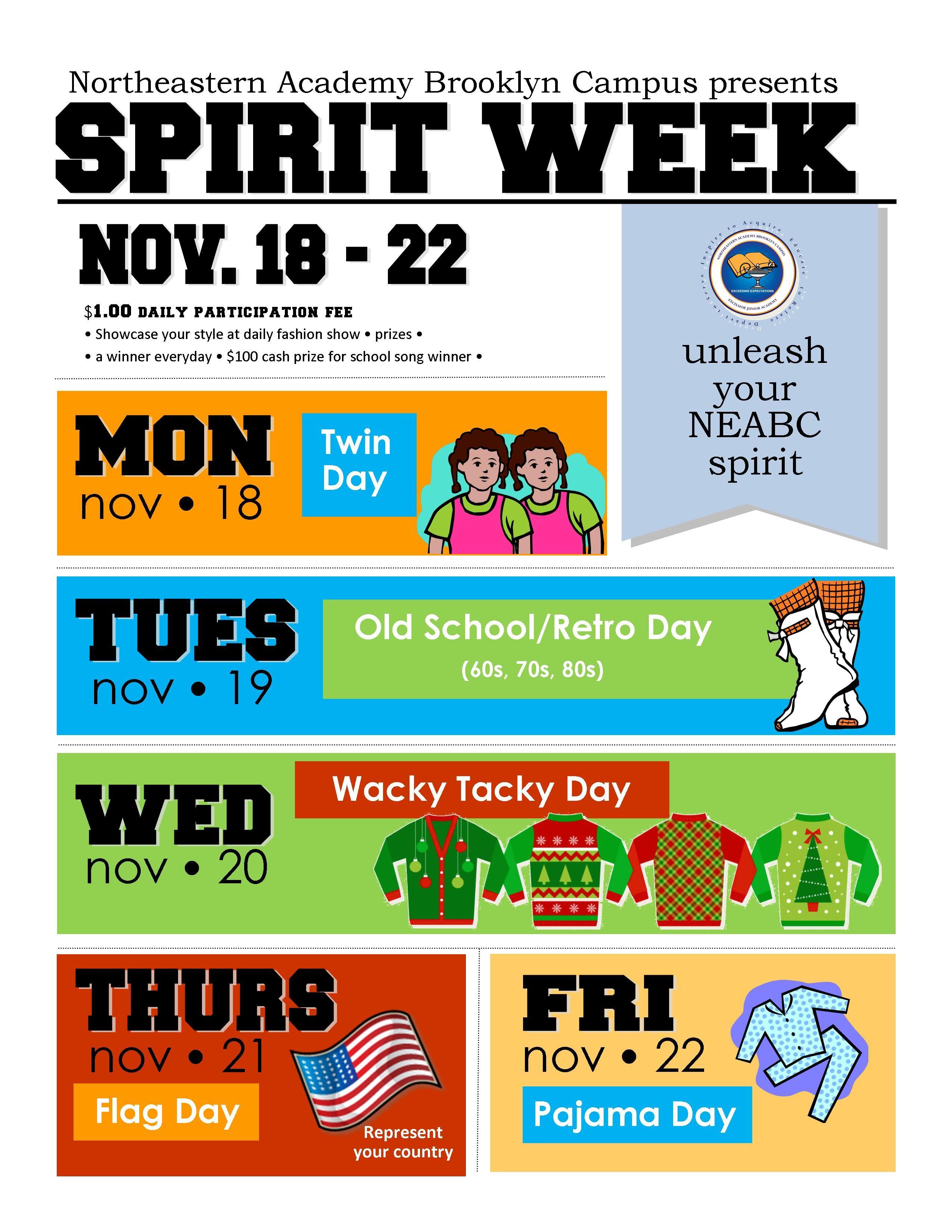 Disney Spirit Week Flyer Template Spirit Week School Spirit Week Flyer Template