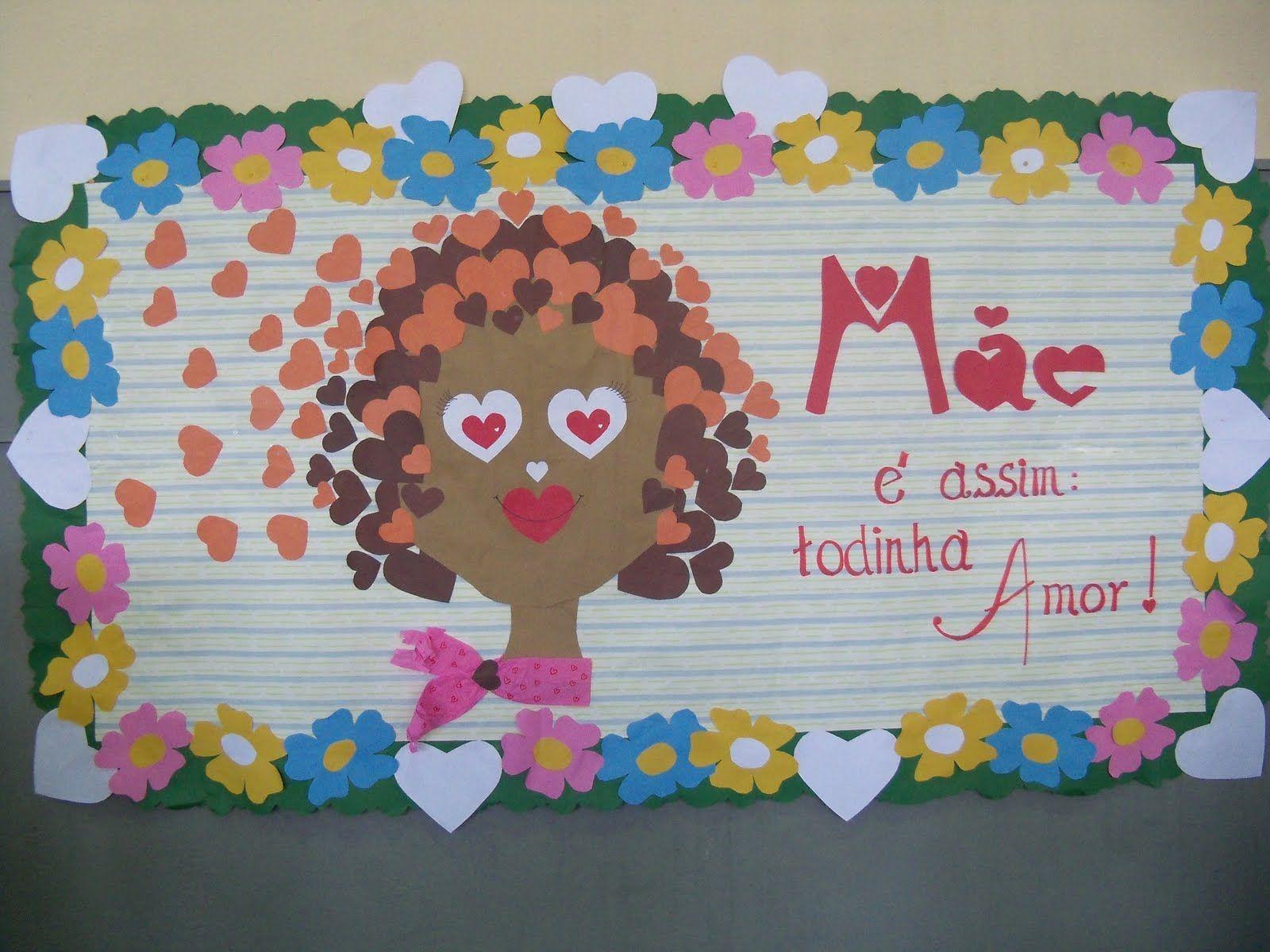 Mural Para O Dia Das Mães 50 Ideias Mamãe Mãe Dia Das Mães E