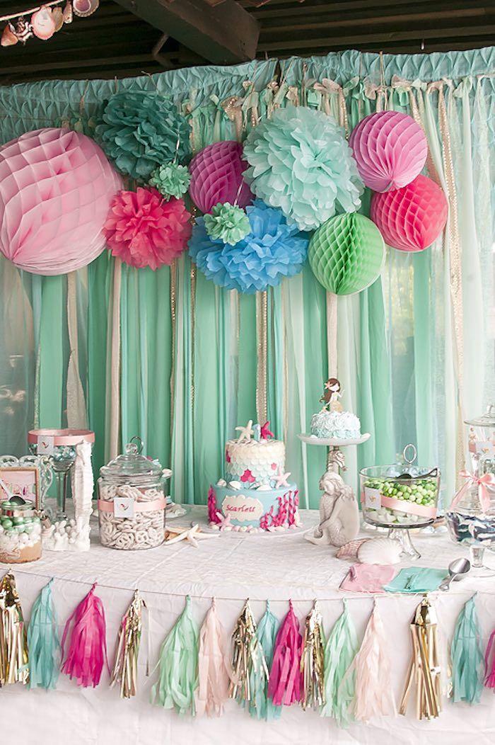 Littlest Mermaid 1st Birthday Party (kara's party ideas ...