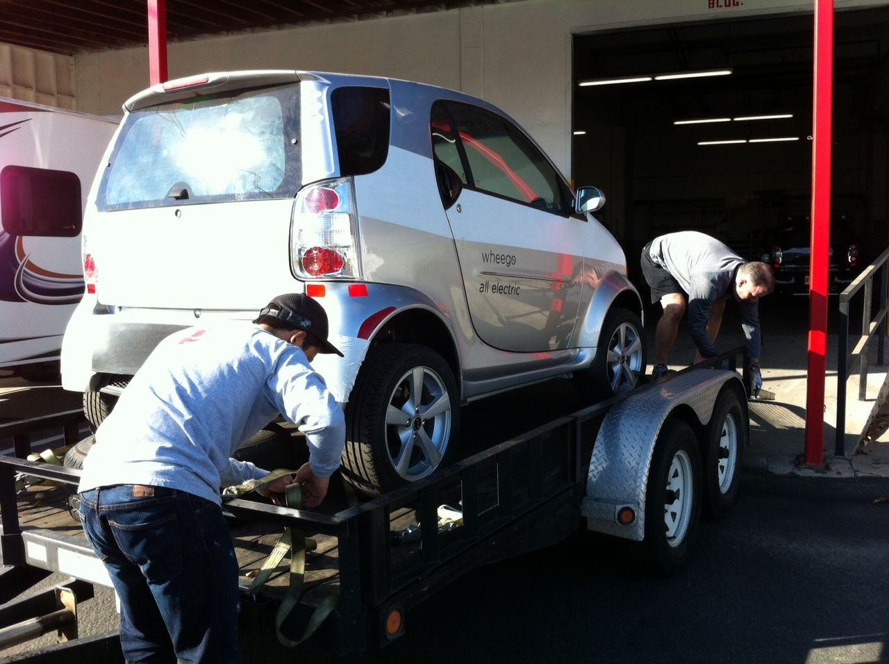 Assembling a new batch of Wheego LiFe EVs December 2012!