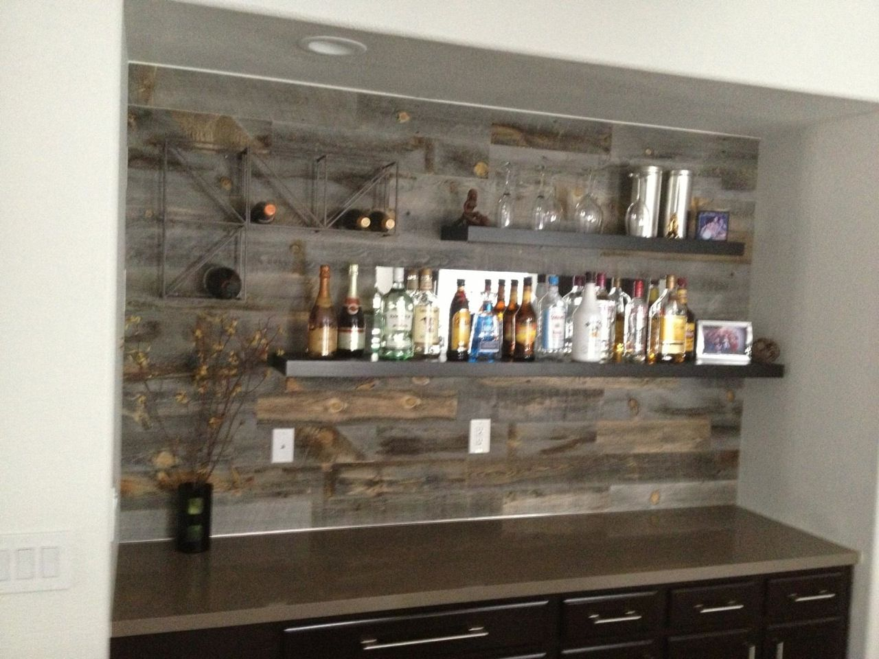 Reclaimed Weathered Wood Kitchens Basement House Bars