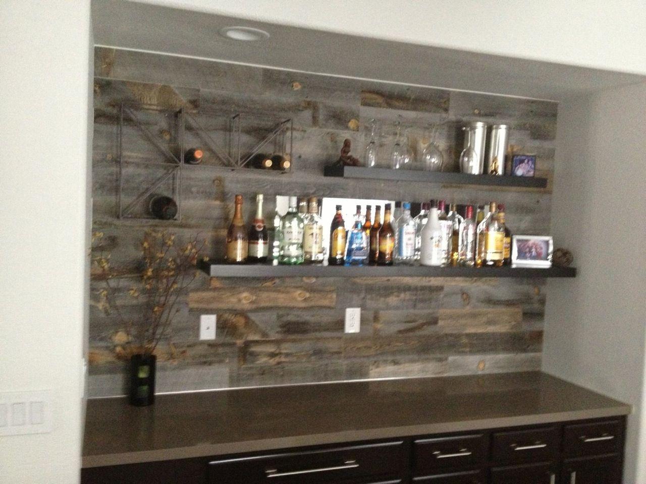Reclaimed Weathered Wood | Bar en casa, Decoraciones del hogar y Bar
