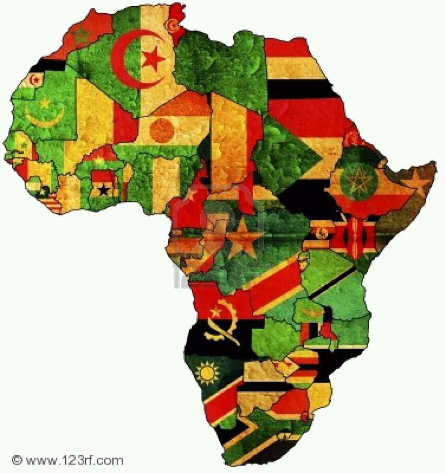 Africa. Flags.