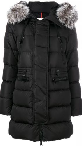 NWT 2018 Moncler Aphrotiti Jacket Coat Puffer Down Fur Size 00  1990 ... f36d436a752