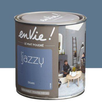 Peinture blues LUXENS Envie collection jazzy 05 l Leroy Merlin - Leroy Merlin Store Interieur