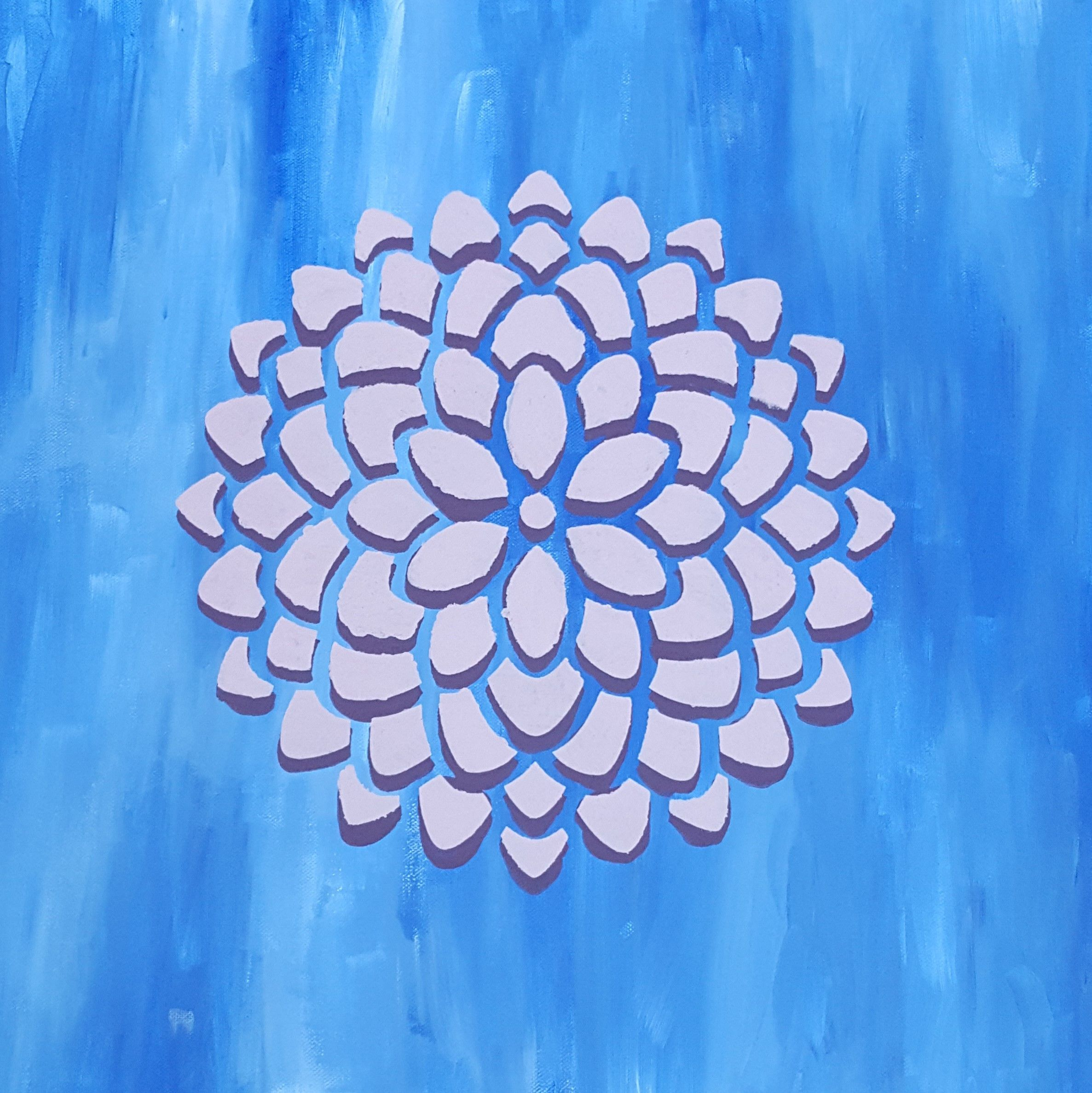 Ascendant The Luminous Palette Abstract Painting Blue White
